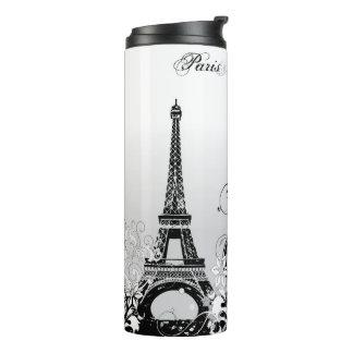 Torre Eiffel Paris (B/W) Tumbler térmico
