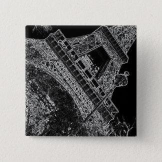 Torre Eiffel Paris do pop art Bóton Quadrado 5.08cm