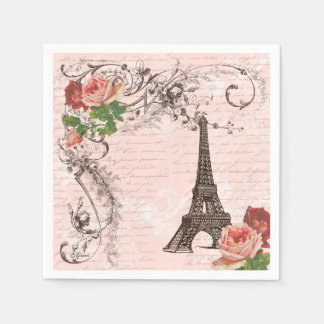 Torre Eiffel Paris e guardanapo do partido dos