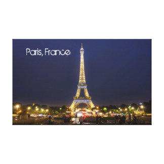 Torre Eiffel, Paris em canvas da noite
