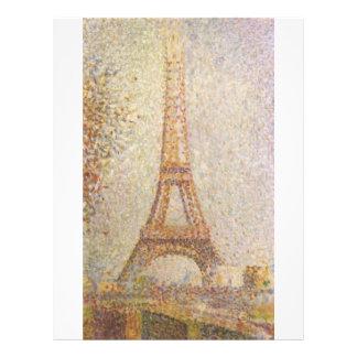 Torre Eiffel por Georges Seurat Flyer 21.59 X 27.94cm