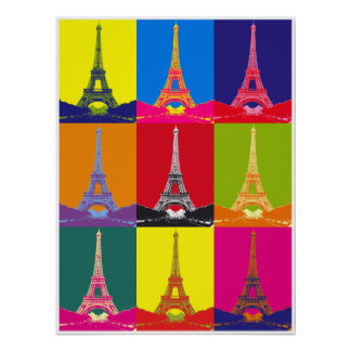 Torre Eiffel Pôster