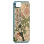 Torre Eiffel & rosas de Paris do chique Capas Para iPhone 5