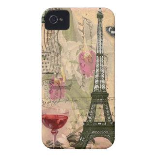 Torre Eiffel & vinho tinto de Paris do chique Capa Para iPhone
