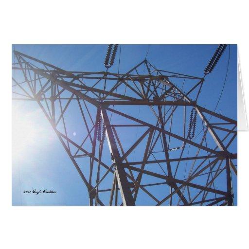 Torre elétrica cartões