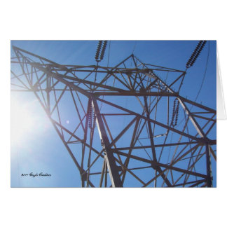 Torre elétrica cartão de nota