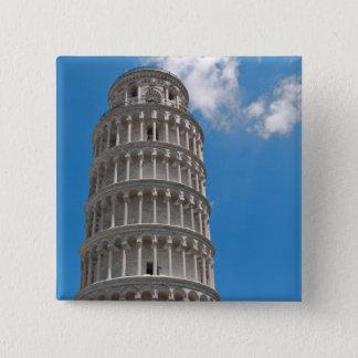 Torre inclinada de Pisa em Italia Bóton Quadrado 5.08cm
