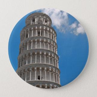 Torre inclinada de Pisa em Italia Bóton Redondo 10.16cm