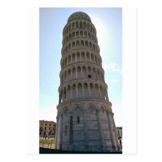 Torre inclinada do cartão de Pisa