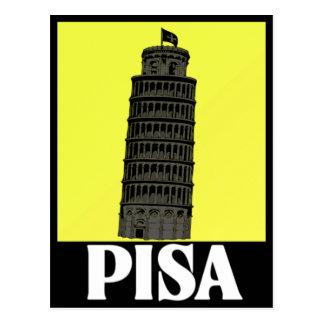 Torre inclinada do design do cartão de Pisa
