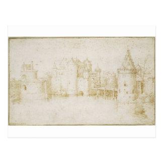 Torres das paredes e portas de Amsterdão por Cartão Postal