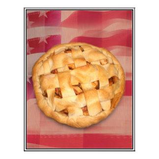Torta americana na glória velha modelo de panfleto