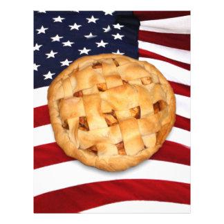 Torta americana (torta de Apple com bandeira ameri Panfleto Personalizado