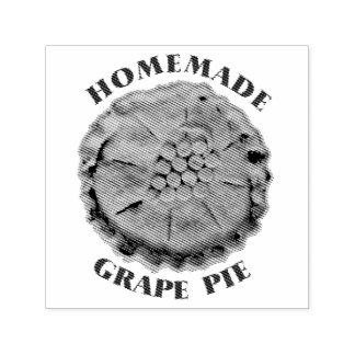 Torta caseiro da uva carimbo auto entintado