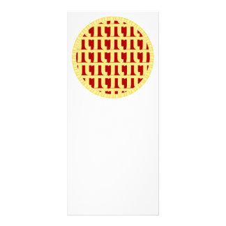Torta da estrutura - vermelho 10.16 x 22.86cm panfleto