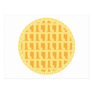 Torta de Apple da estrutura - tema do Pi Cartão Postal