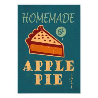 Torta de Apple Impressão De Foto