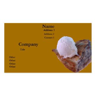 Torta de Apple um modo do la Cartão De Visita
