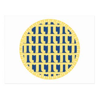 Torta de mirtilo da estrutura - dia do Pi Cartão Postal