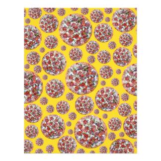 Torta de pizza amarela modelo de panfleto