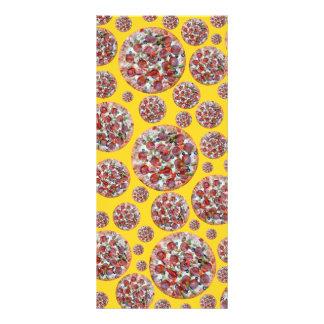Torta de pizza amarela panfleto informativo personalizado