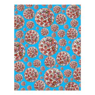 Torta de pizza dos azul-céu panfletos coloridos