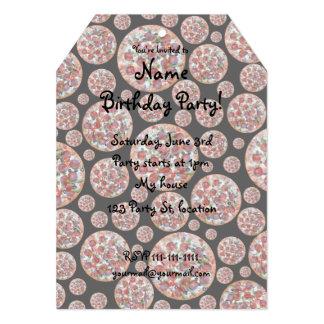 Torta de pizza preta convite 12.7 x 17.78cm