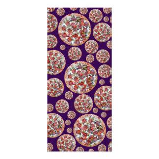 Torta de pizza roxa modelo de panfleto informativo