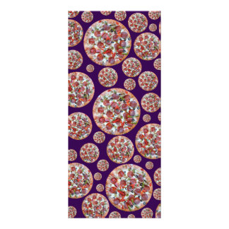 Torta de pizza roxa 10.16 x 22.86cm panfleto