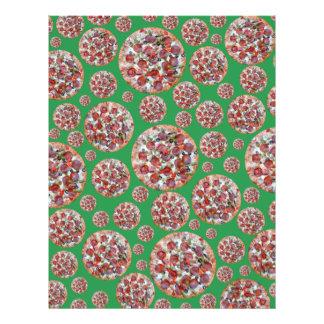 Torta de pizza verde panfleto