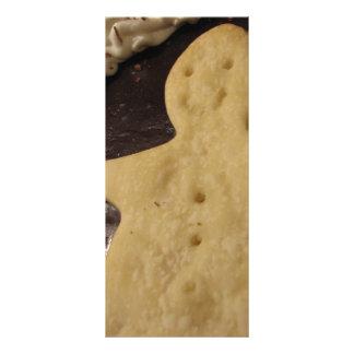 Torta do homem do chocolate 10.16 x 22.86cm panfleto