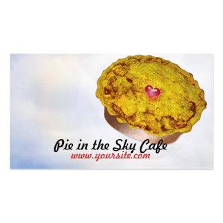 Torta no café do céu cartão de visita