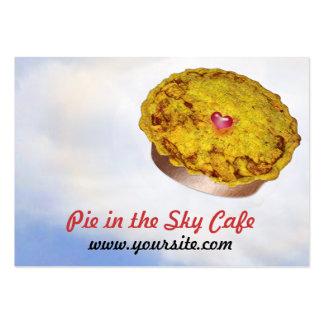Torta no café do céu cartão de visita grande