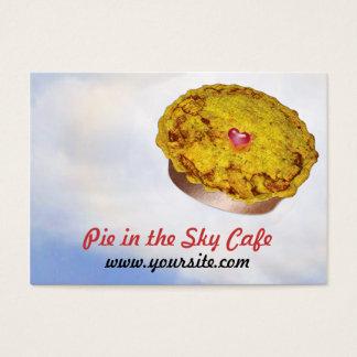 Torta no café do céu cartão de visitas