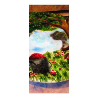 Torta pintada planfetos informativos coloridos