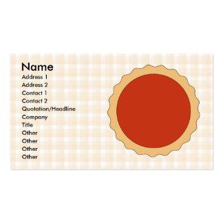 Torta vermelha. Galdéria da morango. Verificação b Cartões De Visitas