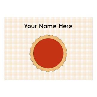 Torta vermelha. Galdéria da morango. Verificação b Cartão De Visita