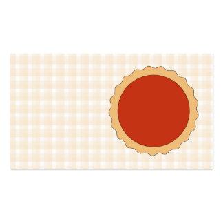 Torta vermelha. Galdéria da morango. Verificação Cartão De Visita