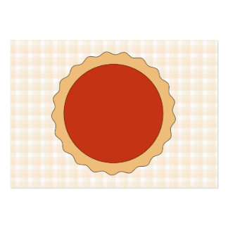 Torta vermelha. Galdéria da morango. Verificação Cartão De Visita Grande