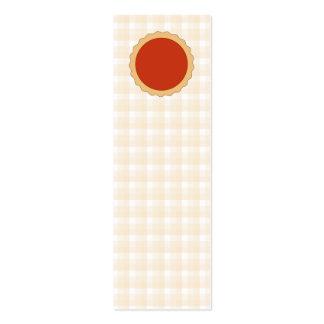 Torta vermelha. Galdéria da morango. Verificação Cartão De Visita Skinny