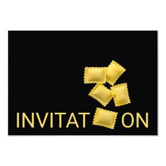Tortellini italiano personalizado do comensal da convite 8.89 x 12.7cm