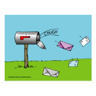 Tossindo o cartão da caixa postal