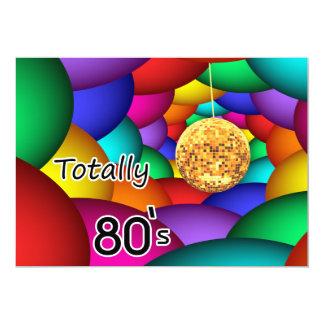 totalmente convite de festas retro do anos 80
