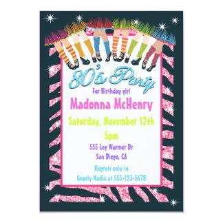 Totalmente convites de festas dos anos 80