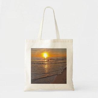 ToteBag: Por do sol pela praia Bolsa Tote