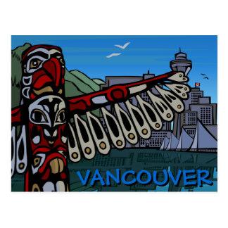Totem pólo dos cartão de Vancôver & cartões dos Cartão Postal