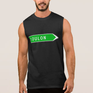 Toulon, sinal de estrada, France Camisa Sem Manga