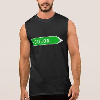 Toulon, sinal de estrada, France Camisetas Sem Manga