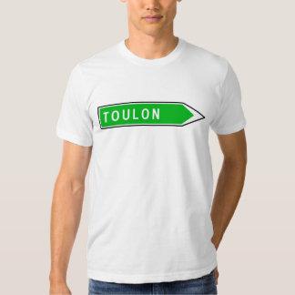 Toulon, sinal de estrada, France T-shirts