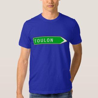 Toulon, sinal de estrada, France Tshirt